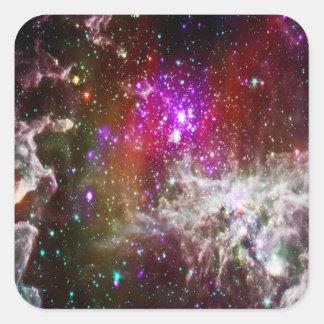 Space - Pacman Nebula Square Sticker