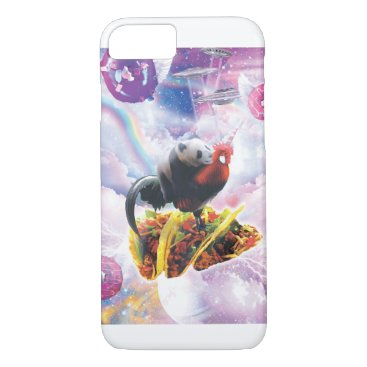Space Panda Riding Chicken Unicorn - Taco & Donut iPhone 8/7 Case