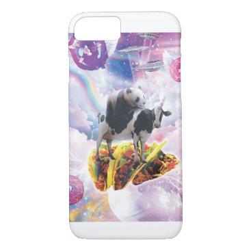 Space Panda Riding Cow Unicorn - Taco & Donut iPhone 8/7 Case