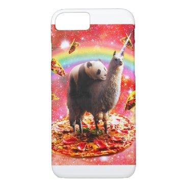 Space Panda Riding Llama Unicorn - Pizza & Taco iPhone 8/7 Case