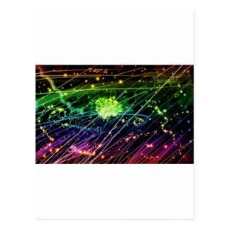 Space particles postcard