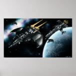 Space patrol art poster