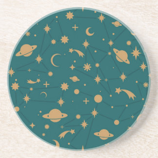 Space pattern coaster