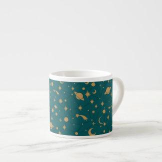 Space pattern espresso cup