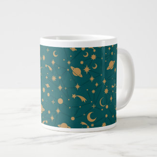 Space pattern large coffee mug