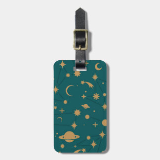 Space pattern luggage tag