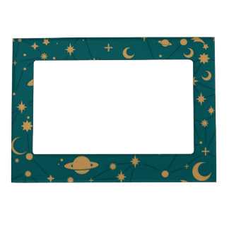Space pattern magnetic photo frame