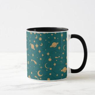 Space pattern mug