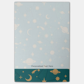 Space pattern post-it notes