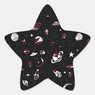 Space pattern star sticker