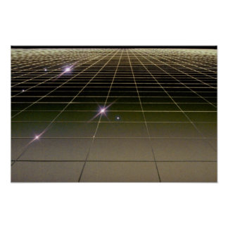 Space perspective grid print