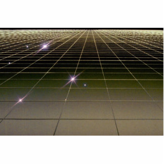 Space perspective grid statuette