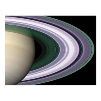 Space Photo Saturn s Rings Postcard