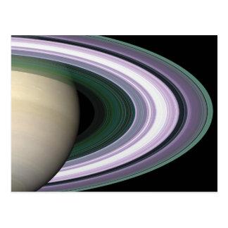 Space Photo Saturn s Rings Postcard