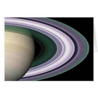Space Photo Saturn's Rings Blank Card