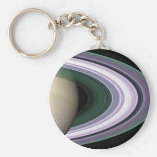 Space Photo Saturn's Rings Keychain