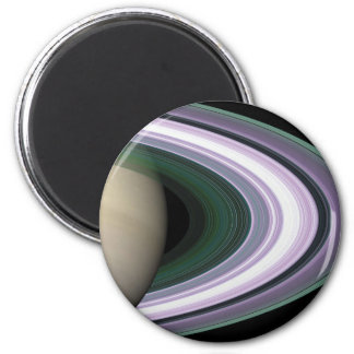Space Photo Saturn's Rings Magnet