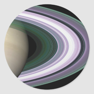 Space Photo Saturn's Rings Stickers