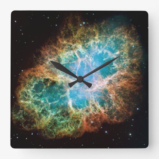 Space Photography Square Wall Clocks