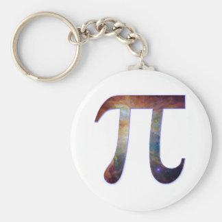 Space pi happy pi day galaxy math geek gift basic round button keychain