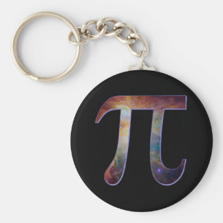 Space pi happy pi day galaxy math geek gift keychain