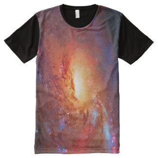 Space picture, Spiral Galaxy, M106, Canes Venatici All-Over-Print T-Shirt