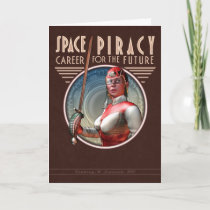 Space Piracy Greeting Card