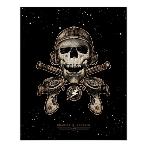 Space Pirate (rayguns) poster (16x20
