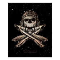 "Space Pirate (rockets) poster (16x20"")"