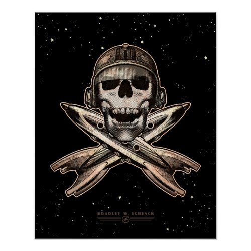 Space Pirate (rockets) poster (16x20