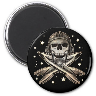 Space Pirate Round Magnet