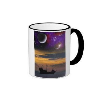 Space Pirates Ringer Coffee Mug