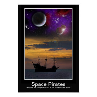 Space Pirates Poster