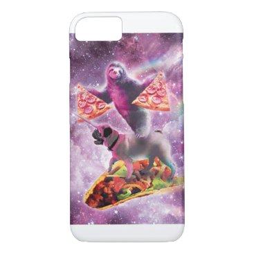 Space Pizza Sloth On Pug Unicorn On Taco iPhone 8/7 Case