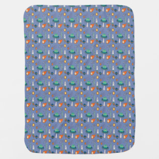 Space Planet Alien Asteroid Meteor Astronomy Stars Swaddle Blanket