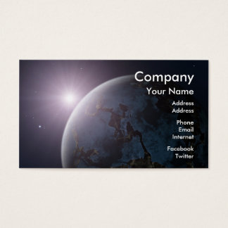 Space Planet Business Card