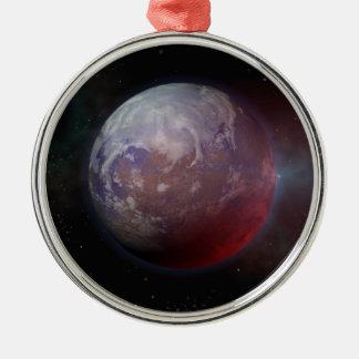 Space Planet Metal Ornament