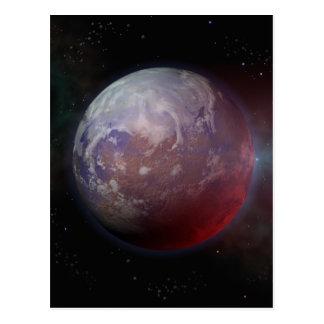 Space Planet Postcard