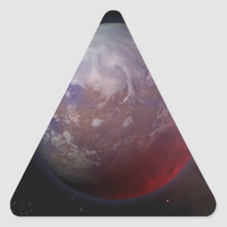 Space Planet Triangle Sticker