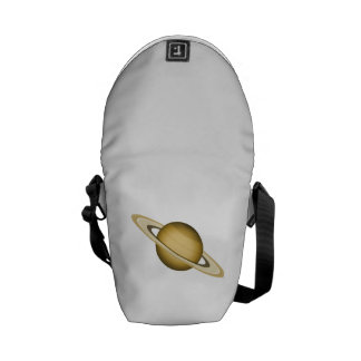 Space Planet with Rings Courier Bag