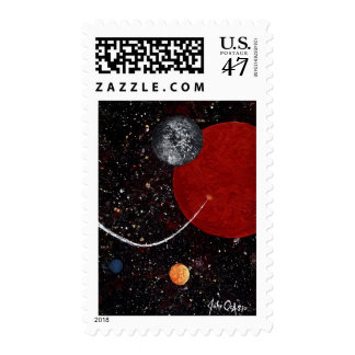 SPACE ~ Planetary Impact (design 15) Postage Stamp