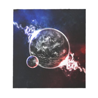 Space planets colorful artistic illustration notepad