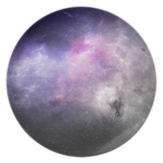 Space Plate 4 - purple nebula