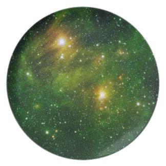Space Plate 6 - Green Nebula