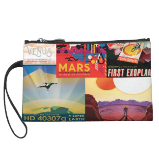 Space Poster Collage Wristlet