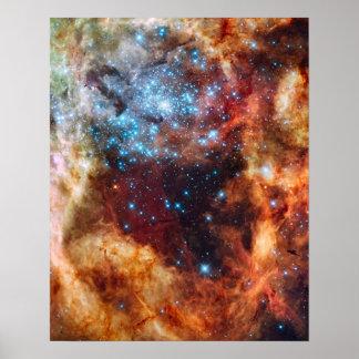 Space Poster Portrait 16 x 20