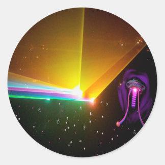 space probe_ classic round sticker