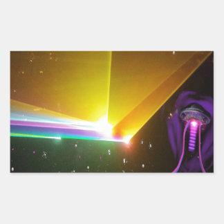 space probe_ rectangular sticker
