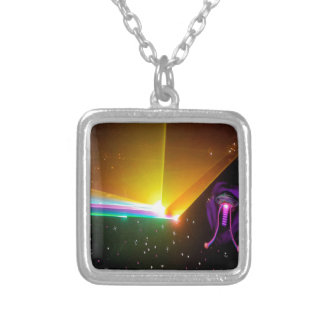 space probe_ silver plated necklace