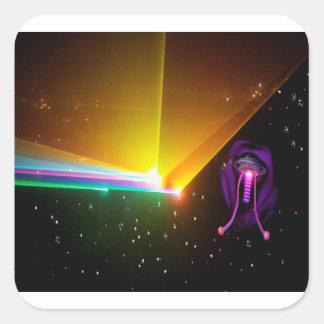 space probe_ square sticker